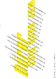 Uwe Loesch – Dürer war auch hier (PAN Kunstforum Niederrhein), 2008 The Effective Pictures We Offer You About Graphic Design portrait A quality picture Bauhaus Typography, Typography Alphabet, Creative Typography, Typographic Poster, Typography Logo, Lettering, Birthday Typography, Web Design, Logo Design