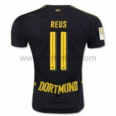 buy popular 9ecfd eb628 Billige Fotballdrakter BVB Borussia Dortmund 2016-17 Reus 11 Borte  Draktsett Kortermet Soccer Uniforms,