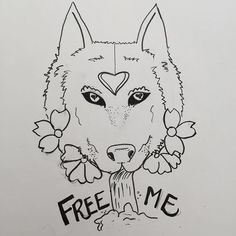 【moonturtle】さんのInstagramをピンしています。 《Fun one! #art #sketch #drawings #wolf #wolfdrawings #doodles #flowers #cherryblossoms #freeme #forthesoul #wolves #wolfdrawing #waterfalls #markerdrawing》