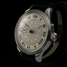 """1920's """"Cartier"""" timepiece with STEEL ENGRAVED dial."""
