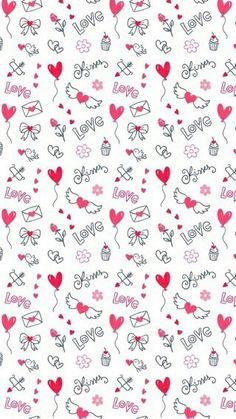 Find images and videos about love, wallpaper and bottoms on We Heart It - the app to get lost in what you love. Cute Wallpaper For Phone, Cute Patterns Wallpaper, Heart Wallpaper, Kawaii Wallpaper, Love Wallpaper, Disney Wallpaper, Wallpaper Backgrounds, Iphone Wallpaper, Scrapbook Background