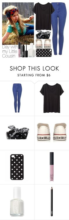 """Day with my Little Cousin"" by charlotte-duranfontan ❤ liked on Polyvore featuring Topshop, rag & bone/JEAN, Converse, NARS Cosmetics, Essie and LittleCousin"
