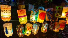 Create Your Own Lantern Festival: A Beautiful Art Project How to make a lantern from simple materials at home (ex: Soda bottles). Craft activity inspired by the Jamaica Plain Lantern Festival and Parade in Boston, MA. Glue Crafts, Bottle Crafts, Diy Crafts, Canvas Crafts, Art For Kids, Crafts For Kids, Arts And Crafts, Homemade Lanterns, Lantern Crafts