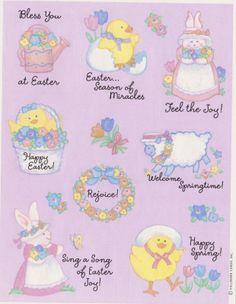Vintage RARE Beautiful Easter Blessings Sticker Sheet by Hallmark | eBay