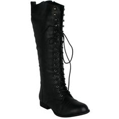 Refresh Libby-05 Women's Lace Up Knee High Combat Riding Boots