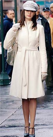 gorgeous winter white coat from the devil wears prada