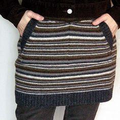 transformer un vieux pull en jupe