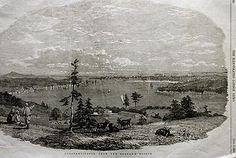 Beykoz Sırtlarından İstanbul. Illustrated London News, Londra 1853 Ahşap Baskı.