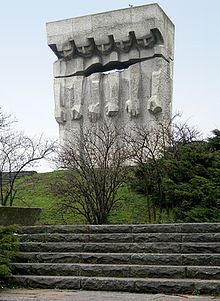 Memorial to victims of Nazism in occupied Poland during World War II, Kraków Sacred Architecture, Amazing Architecture, Modern Architecture, Holocaust Memorial Day, Brutalist Design, Military Cemetery, Concrete Structure, Krakow, Planet Earth