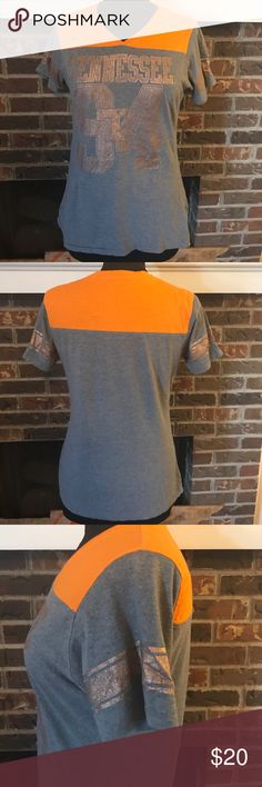 University of Tennessee tee (see description) Go Vols! Size xl but fits like a medium, orange and grey Tennessee shirt Tops Tees - Short Sleeve