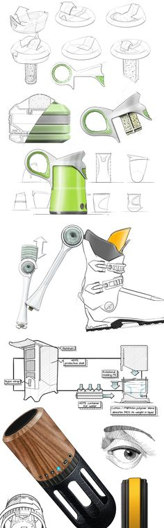 Digital sketches from some current projects by Jeremy Dennis, via Behance