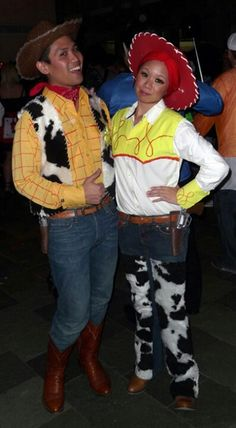 The easiest diy halloween costumes for fashion girls disney couple woody and jessie costumes solutioingenieria Images