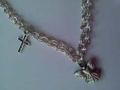 silver coloured charm bracelet by bitsbeads on Etsy, £4.00