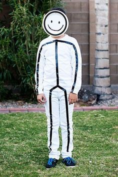 Funny and simple stick figure costume!