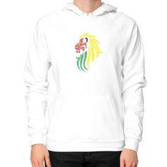 Lion Reggae Music Flag Colors Hoodie (on man)