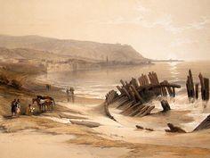 David Roberts Holy Land: 1846 Folio 1st. Caiphas, Mount Carmel. Israel