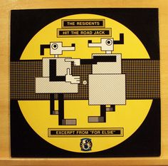 THE RESIDENTS Hit the Road Jack / Excerpt from Elsie Vinyl 12  Maxi Single RARE