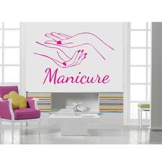 Adesivo Parede Salão Beleza Manicure                                                                                                                                                                                 Mais