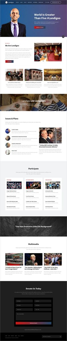The Landioo is a creative responsive 10in1 #WordPress theme for #political landing pages websites, coded with #flex framework download now➩ https://themeforest.net/item/landigoo-multipurpose-single-page-creative-wp-theme/19167944?ref=Datasata