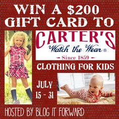 win this $200 Carter's GC - ends 7/31