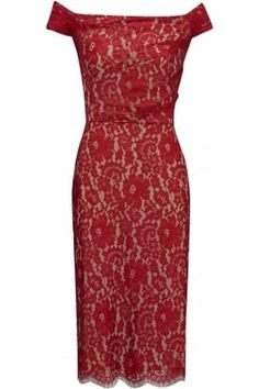 Nigella dress in flower lace #PrettyEccentric #Bride #Bridesmaid #Wedding #Vintage #Lace #Red