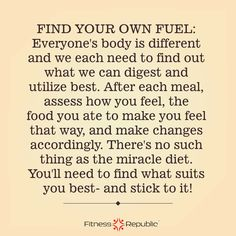 Find Your Own Fuel | Fitness Republic