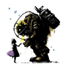 I'll Always Protect You, Bioshock / Big Daddy / Little Sisters Design | TeeFury