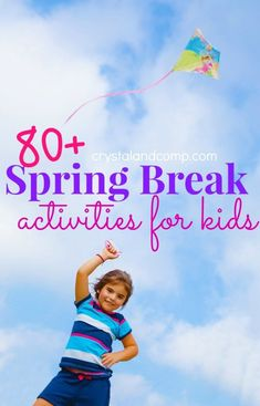 Are you gearing up for Spring Break week? It is around the corner. Maybe you are traveling, staying home or a little bit of both. I have a list of activities fo Spring Break ideas Activities for Kids: Over 80 Ideas for Spring Break Week List Of Activities, Spring Activities, Craft Activities For Kids, Learning Activities, Games For Kids, Kids Learning, Kids Crafts, Family Activities, Preschool Lessons