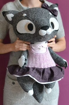 Gilry Wolf by MarieChou on Etsy. Like the wolf and the dress behind her