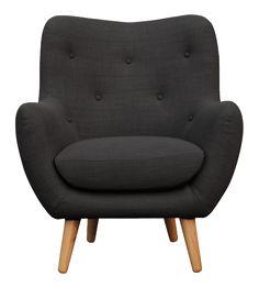 BREYTON Fauteuils Fauteuil Gris anthracite Tissu, habitat Furniture Upholstery, Home Furniture, Furniture Design, Sofa Design, Bedroom Seating, 2 Seater Sofa, Best Sofa, Occasional Chairs, Modern Sofa