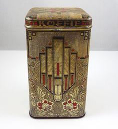 Art Deco coffee tin
