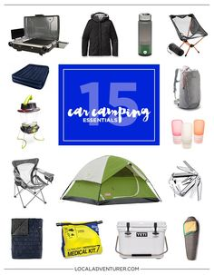 15 Car Camping Essentials for the Practical Traveler. 3 Days left in Camping Month! Have you gone camping yet? Last week was about backpacking, and this week we're going to show you our car camping essentials! Camping Hacks, Car Camping Essentials, Camping Gadgets, Camping Checklist, Camping Crafts, Car Hacks, Camping Recipes, Backpacking Tent, Camping Gear