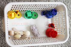 Kosz pełen skarbów - zabawa dla malucha Montessori, Ideas, Thoughts