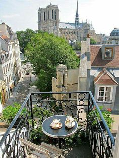 Cathédrale Notre-Dame from a Balcony on the Rue Galande [Rue Saint-Julien-le-Pauvre at left] √ Paris France, France 3, Ville France, Paris Paris, Oh The Places You'll Go, Great Places, Places To Travel, Places To Visit, Porches