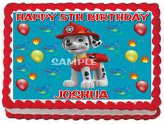 PAW PATROL MARSHALL EDIBLE CAKE TOPPER BIRTHDAY DECORATION | NANASTASTYTOPPERS - Edibles on ArtFire