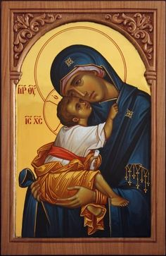 Byzantine Icons, Byzantine Art, Religious Icons, Religious Art, Jesus Mary And Joseph, Religion Catolica, Russian Icons, Blessed Mother Mary, Madonna And Child
