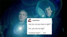 I know it's a picture of Johnlock but it made me think of Jason and Percy so much