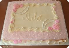 vintage bridal shower sheet cake