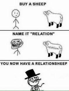 #Relationship or #Relantionsheep : para quem certamente possui um humor diferenciado.