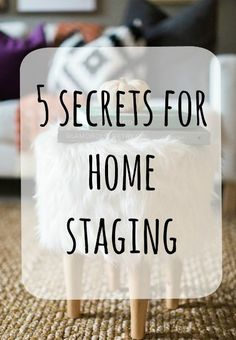 Today I am sharing my 5 top secrets to home staging. Staging is a lot of de-cluttering, but many times we don't realize the extent of our clutter after years of living in our home.  HomematchNW.com  #homestaging  home staging tips