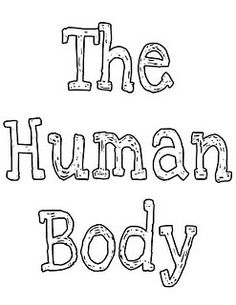 Human body printables
