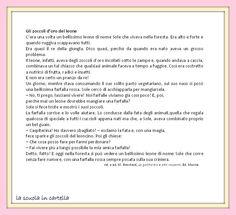 La scuola in cartella: Comprensione del testo: GLI ZOCCOLI D'ORO DEL LEONE