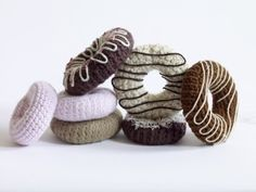 Knit or crochet some fun amigurumi food patterns for a taste of something different in your project bag. Crochet Food, Crochet Patterns Amigurumi, Crochet Crafts, Yarn Crafts, Crochet Projects, Free Crochet, Funny Crochet, Learn Crochet, Crochet Humor