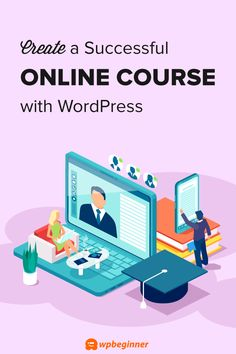 Want to create an online course? Learn how to easily create a successful online course in WordPress with step by step instructions for beginners. Learn Wordpress, Wordpress Plugins, Create Landing Page, Wordpress Website Design, Blogging For Beginners, Selling Online, Online Courses, Learning, Hustle