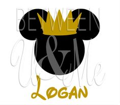 Personalized Prince Crown Mickey Mouse Disney Iron On Decal Vinyl for Shirt on Etsy, $6.99