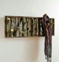 Oh i want to do this so much! Its like your own little wood ♡ #Shelf