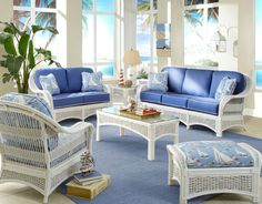 Lovely Wicker Sunroom Furniture