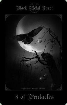 Black Metal Tarot 18 by wyldraven on DeviantArt
