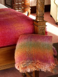 the best  warmest blanket ever! mohair, made in ireland. http://www.johnhanly.com/