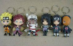 Naruto Gaara Tobi Keychain Set NAKY2023